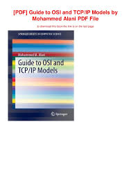 Pdf Guide To Osi And Tcp Ip Models By Mohammed Alani Pdf File