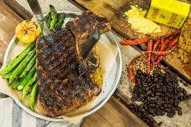 matt iseman s summer ribeye steak with e rub and grilled asparagus home family hallmark channel