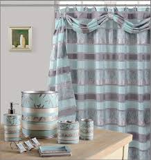 8pcs venezia aqua high quality scarf shower curtain set bath window curtain