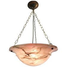 early 20th century art deco bright alabaster pendant light ceiling fixture lamp for