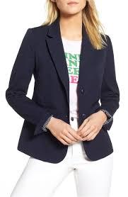 women formal blazer coat jacket plus size navy blue ready