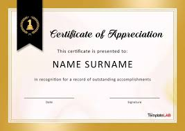 33 Certificate Of Appreciation Template Download Now