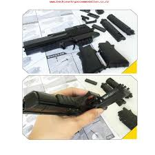 building toy sets packs diy building blocks toy desert eagle assembly toy puzzle brain game model