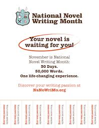 How To Write Flyers National Novel Writing Month