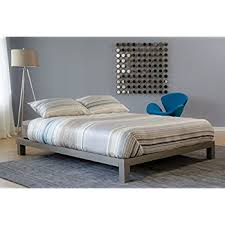 Amazoncom Aura Metal Platform Bed Champagne Gray Comes in Twin