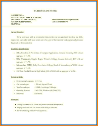 Career Objective For Freshers Objective For Resume Format Mca