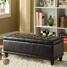 Storage Benches For Living Room Oxford Creek Modern Haslett Lift Top Faux Leather Tufted Storage