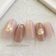 春夏ハンドベージュピンク Nailsalon Flowerのネイルデザインno