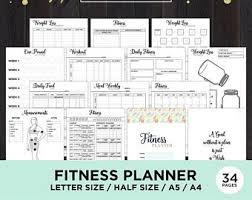 Fitness Journal Etsy