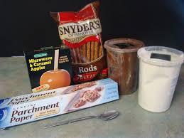 step 1 supplies pretzel rods