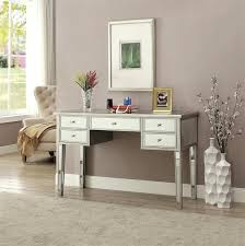 Mirrored office furniture Chest Mirrored Office Desks Glam Desk With Accents Interior Mirrored Home Office Desk Omniwearhapticscom Mirrored Home Office Desk Furniture Wonderful Bathroom Vanity