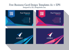 Business Templates Design 2 Ideas Card –