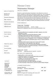 Maintenance Resume Examples Extraordinary Maintenance Planner Resume Examples Maintenance Resume Sample
