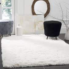 white shag rug in bedroom. Safavieh Polar White Shag Rug (6\u0027 7 Square) (PSG800B-7SQ) In Bedroom M