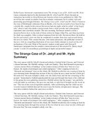 robert louis stevenson strange case of dr jekyll and mr hyde robert louis stevensons supernatural story the strange case of dr jekyll and mr hyde