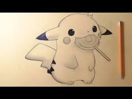 anime chibi pikachu drawing. Simple Chibi Drawing Pikachu Chibi With Anime Chibi A