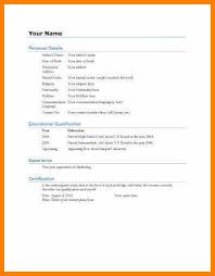 General Resume Form 6 General Resume Format Plastic Mouldings