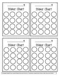 Free Sticker Chart Incentive Chart Freebie
