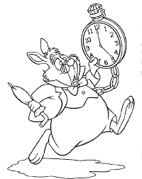 Alice In Wonderland White Rabbit Coloring Pages - Printable ...