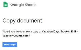 Vacation Coverage Plan Template Vacation Days Tracker Spreadsheet Template Google Sheets