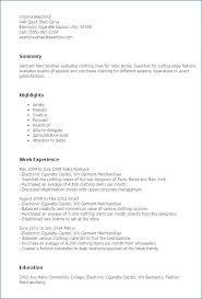 Merchandising Resume Sample Retail Marketing Resume Visual Merchandising Resume Fashion