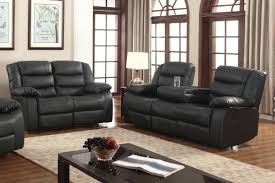 arabic living room furniture in usa. layla 2 pc black faux leather living room reclining sofa and loveseat set with drop- arabic furniture in usa