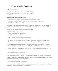 Resume Objective For Internship resume objective statement cliffordsphotography 68