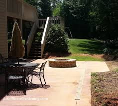 concrete patio with fire pit.  Pit Built In Fire Pit In Concrete Patio For With