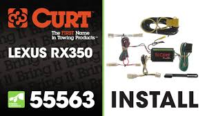 trailer wiring install curt 55563 on a lexus rx350 youtube 7 Pin Trailer Wiring Harness at 1999 Lexus300rx Trailer Wiring Harness