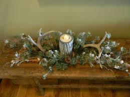 Pine Branches For Decoration Made This Winter Table Decoration With Antlers And Pine Branches