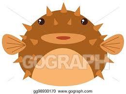 cute puffer fish clip art.  Fish Cute Pufferfish On White Background With Puffer Fish Clip Art
