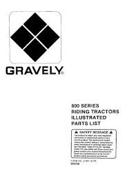 wiring diagram model 9851 800 series riding tractors illustrated parts list gravely tractor club