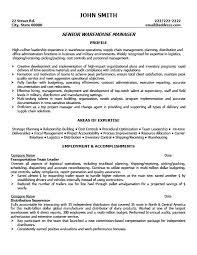 Sample Warehouse Management Resume Warehouse Supervisor Resume 40 Inspiration Warehouse Supervisor Resume