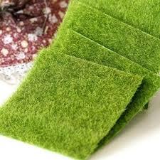 garden mat. moss mat artificial green sheet grass train craft fairy for decor garden wedding