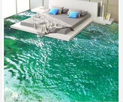3d floor painting wallpaper river bathroom bedroom 3d floor waterproof wallpaper for bathroom wall 3d flooring