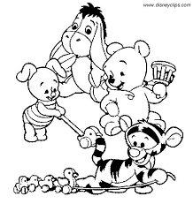 Halloween Winnie The Pooh Coloring Pages Disney Baby