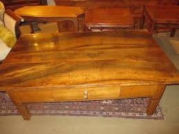 very large antique coffee table