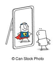 mirror clipart free. the mirror - joe looks in mirror. he sees a superhero in. clipart free e