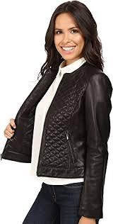 30%OFF Cole Haan Women's Collarless Moto Diamond Quilted Leather ... & 30%OFF Cole Haan Women's Collarless Moto Diamond Quilted Leather Jacket Adamdwight.com
