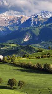 Green Hills And Mountain - 1242x2208 ...