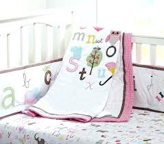 pottery barn crib set animal alphabet baby bedding kids o bed sheets decoration ideas for wall