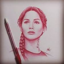 katniss the hunter games drawing