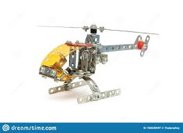 DIY Toy, <b>Mini Metal Alloy</b> Helicopter On ISolated White Background ...