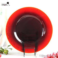 whole wedding decoration colored glass under plates glass plate dinnerware glass plate red color plate with 4 73 piece on shanxiholy s
