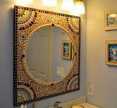 Mosaic Bathroom Mirror Home Design