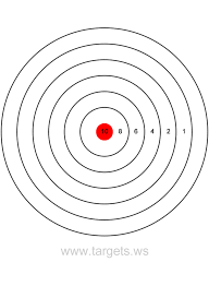 e355505a77633c2bca5a60321ec3c4d6 printable shooting targets colors are black, white and red on printable targets for zeroing