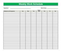 blank work schedule free printable work schedules weekly employee work schedule