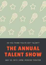 Talent Show Flyer Design Microphone Pattern Talent Show Flyer Templates By Canva
