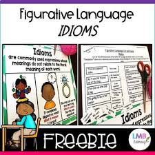 Free Figurative Language Idioms Anchor Chart And Activity