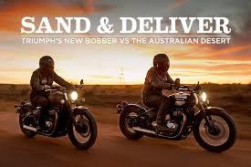sand and deliver bobber triumph triumph motorcycles